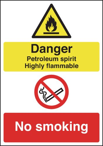 Danger Petroleum Spirit Highly Flammable...Signs