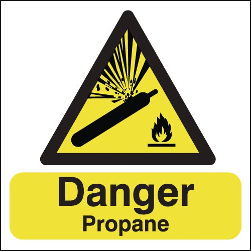 Danger Propane Signs