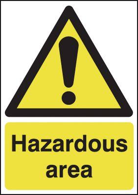 Hazardous Area Window Fix Signs