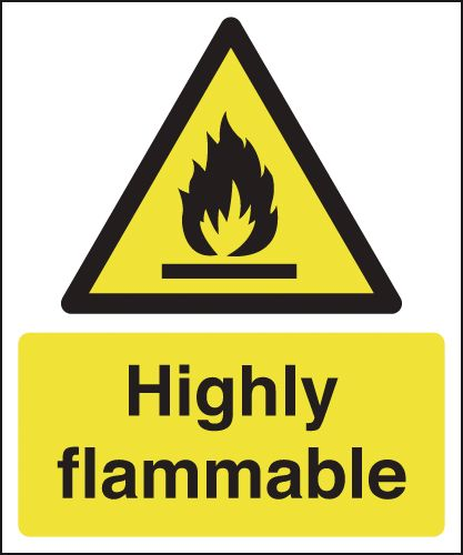 Highly Flammable Signs