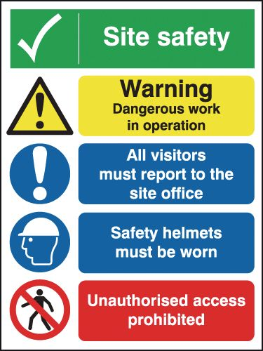 Site Safety/Dangerous Work/Access Multi-Message Signs