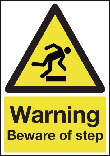 Warning Beware Of Step Signs