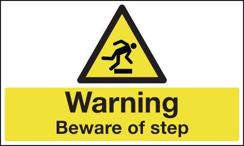 Anti-Slip Floor Signs - Warning Beware Of Step