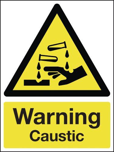 Warning Caustic Signs