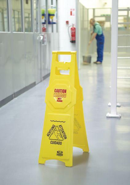 Tall 'Wet Floor' Stands