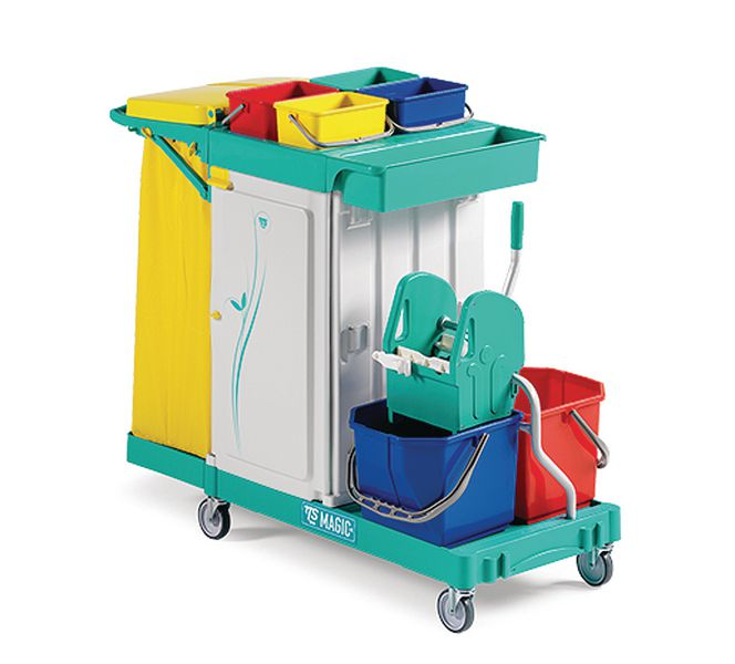 All-Purpose 3 Drawer Trolley with Wringer
