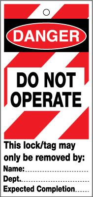 Lockout Safety Tags - Do Not Operate (pack of 10)