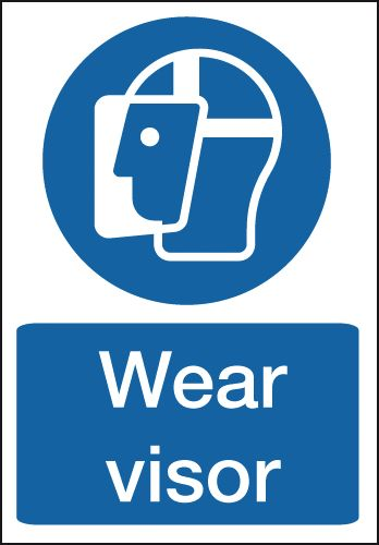 Wear Visor Sign