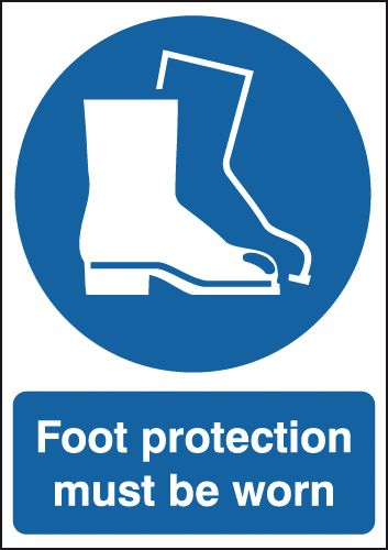 Foot Protection Must Be Worn Signs