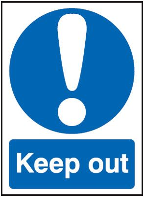 Keep Out - Window Fix Signs