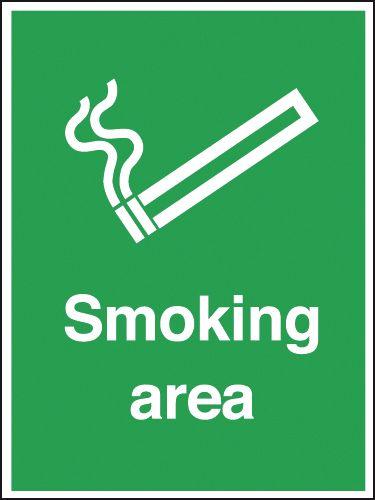 Smoking Area Outdoor Aluminium Signs