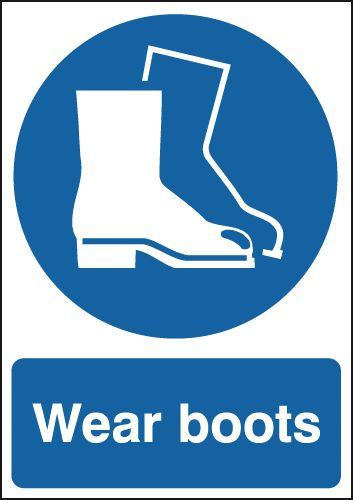 Wear Boots Sign