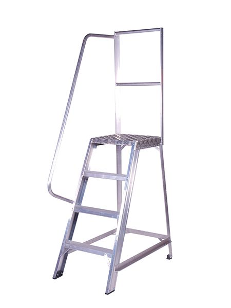 Single Sided Industrial Platform Stepladders