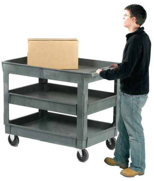 Deep Shelf Trolleys with 3 Shelves