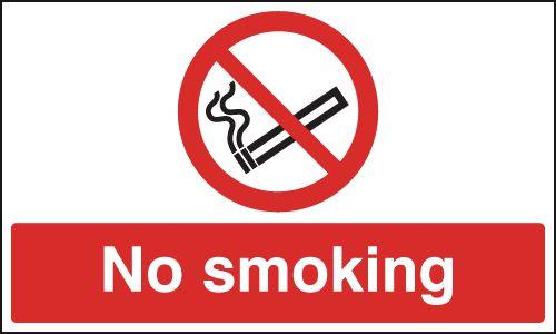 No Smoking - Anti-Slip Floor Signs