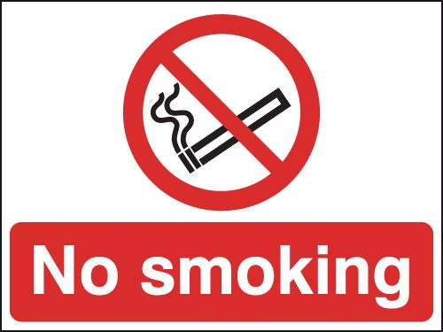 No Smoking Stanchion Sign