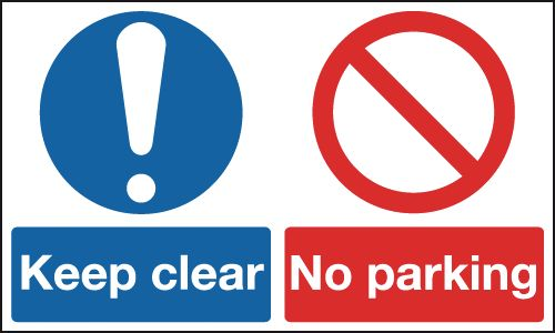 Keep Clear No Parking Multi-Message Signs