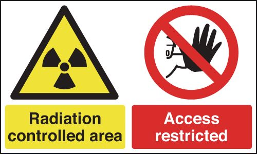 Radiation Controlled Area/Access Restricted Signs