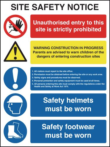 Site Safety Notice Signs