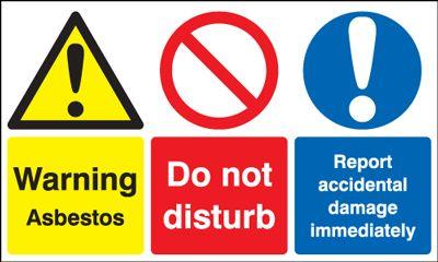 Warning Asbestos/Do Not Disturb... Multi-Message Signs