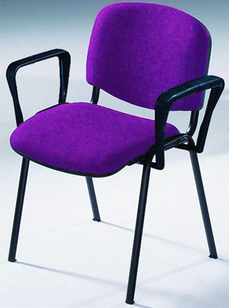 Stacking Chairs With Black Frame