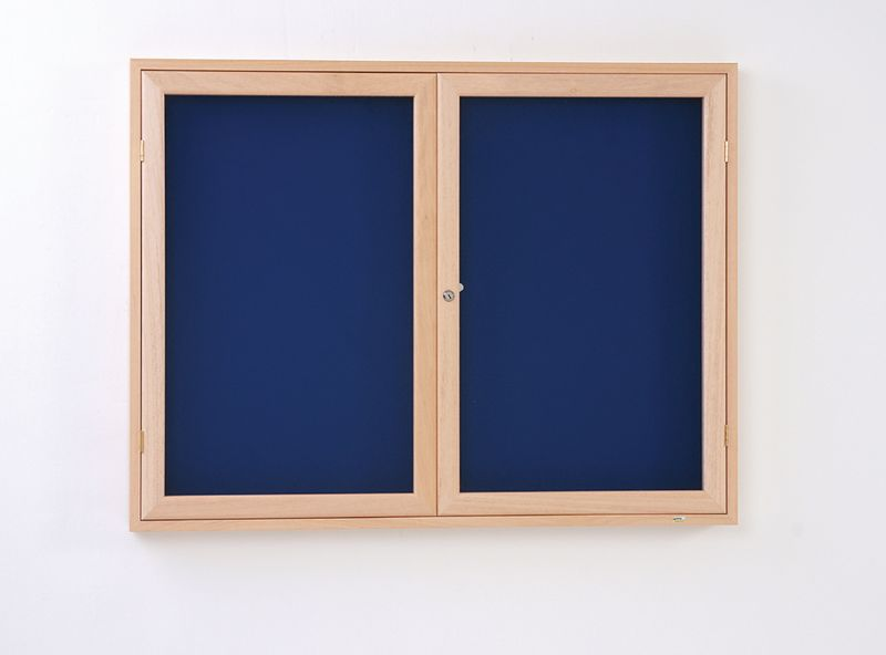 Eco Wooden Lockable Notice Boards