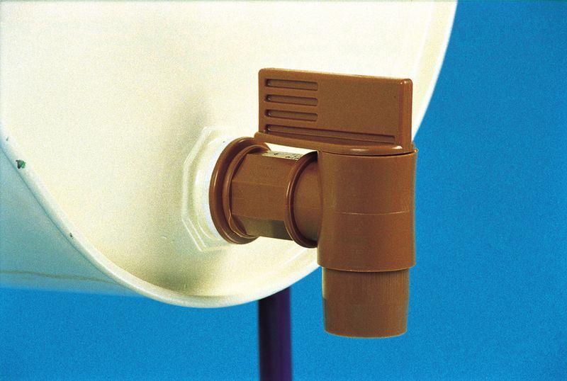 Large Bore Threaded Tap - Polyethylene