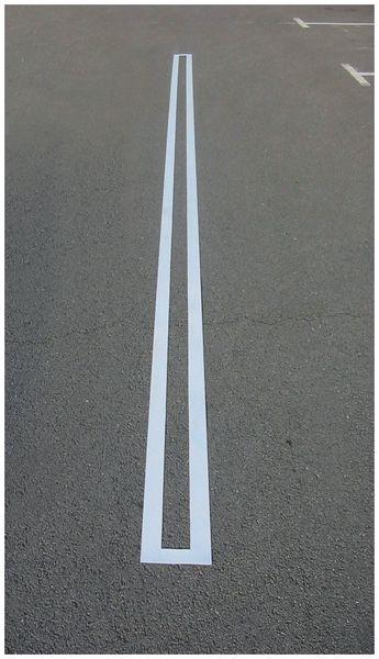 Straight Line Parking Stencil
