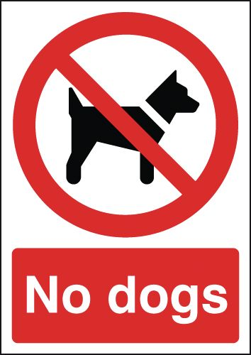 promotion no dogs signs