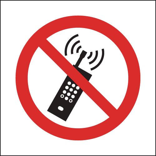 No Mobile Phones (Symbol) Sign