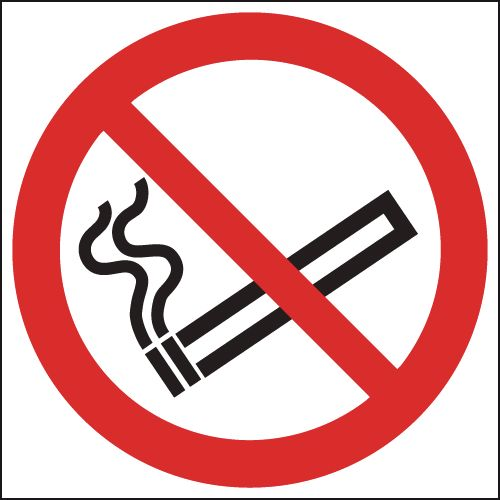No Smoking (Symbol) - Window Fix Safety Signs