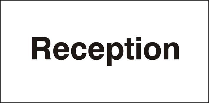 Public Information Signs - Reception