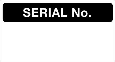 Serial No. - Quality Control Labels