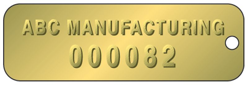 Embossed Identification Tags