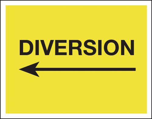 Diversion (Arrow Left) - Class 1 Reflective Signs