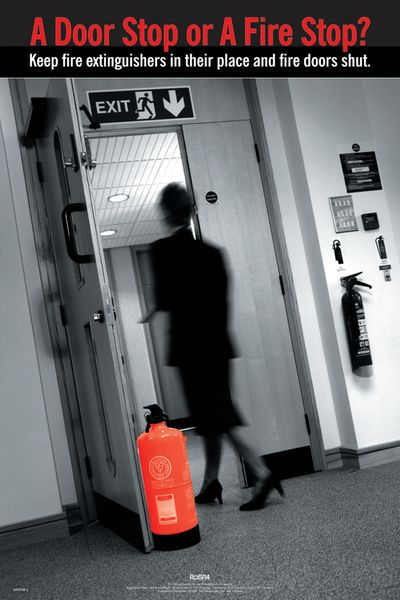 RoSPA Safety Poster - A Door Stop or a Fire Stop