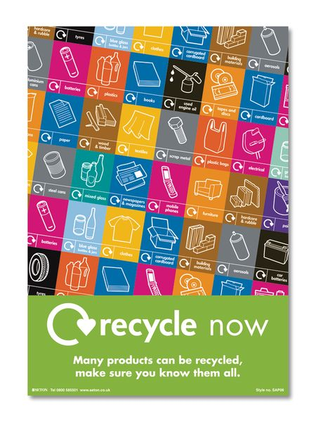 Recycle Now Safety Awareness Poster