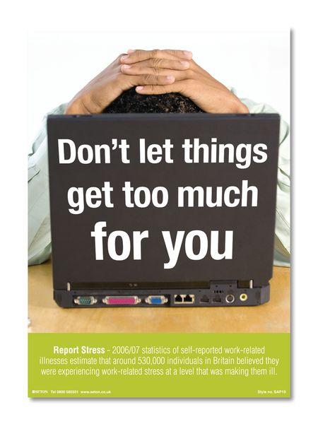 Safety Awareness Posters - Stress Awareness