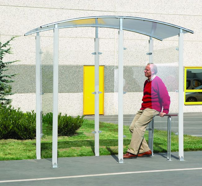 Steel Framed Smoking Shelters