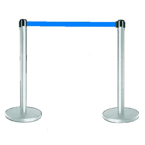 Tensabarrier® Barrier Chrome Posts Coloured/Webbing