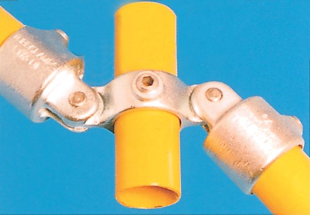 Modular Barrier - Double Swivel Combination Galvanised Clamp