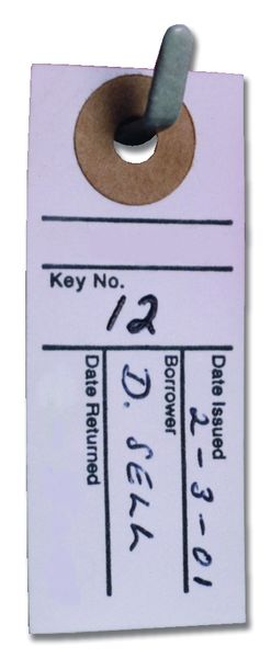 Key Tag Location Cards
