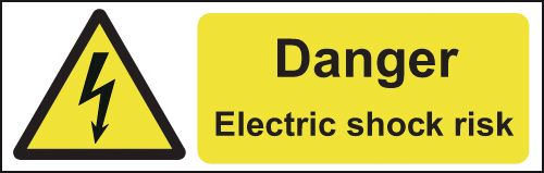 Danger Electric Shock On-the-Spot Safety Labels