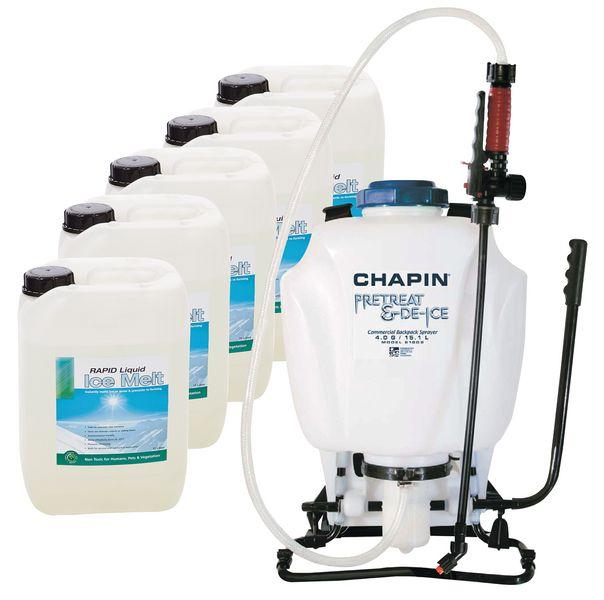 Liquid Ice Melt & Knapsack Sprayer Kits