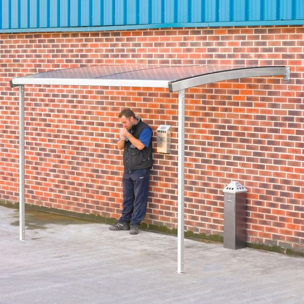 Wall-Mounted Smoking Shelter