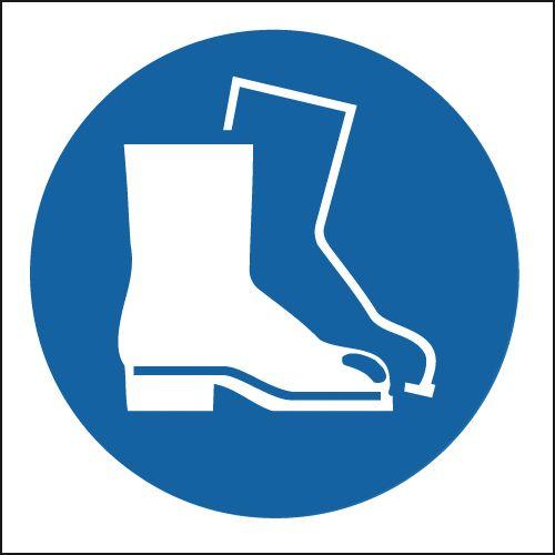 Safety Footwear Symbol - Vinyl Safety Labels On-a-Roll