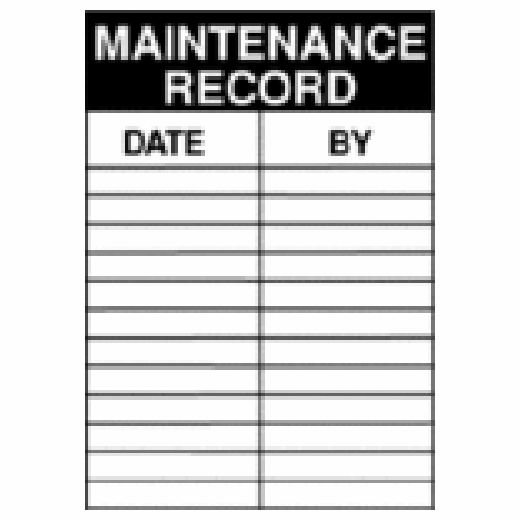 Maintenance Record / Date / By Service Labels