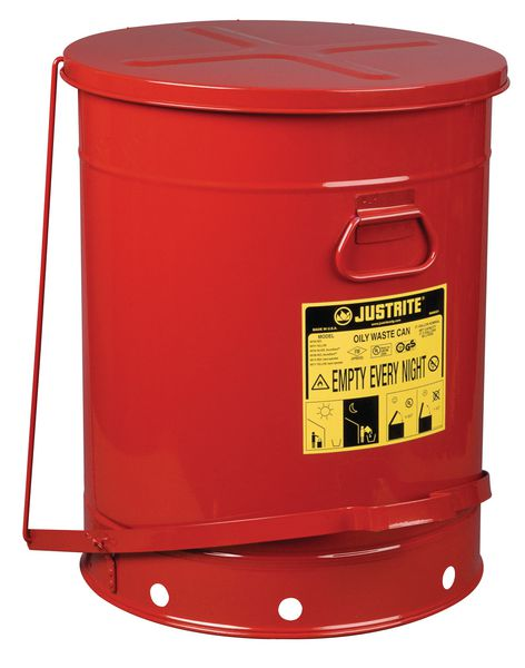 Foot Operated Steel Oily Waste Can