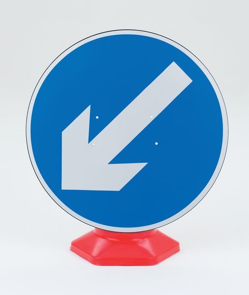 Keep Left Traffic Cone Sign