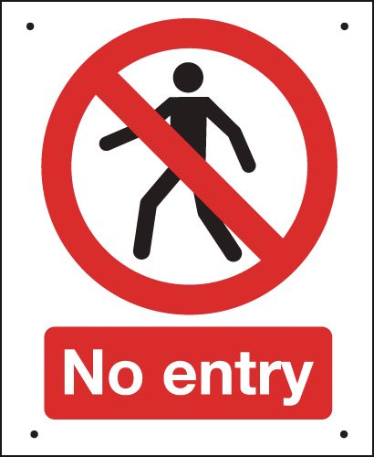 No Entry (Person Symbol) - Vandal-Resistant Sign